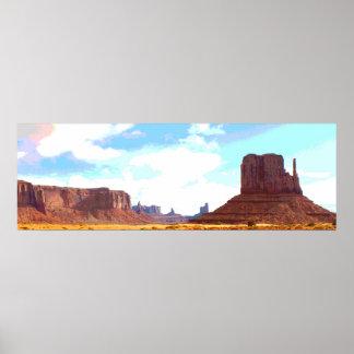 Valle Arizona del monumento Póster