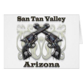 Valle Arizona - revólveres del moreno de San Tarjeta De Felicitación