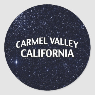 Valle California de Carmel Pegatina Redonda