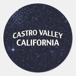 Valle California de Castro Pegatina Redonda