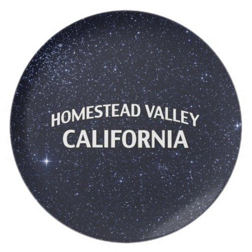 Valle California de la granja Platos De Comidas