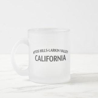 Valle California de las Colinas-Larkin de Aptos Taza Cristal Mate