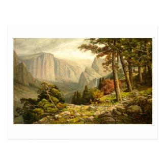 Valle California de Yosemite del rastro de Postales