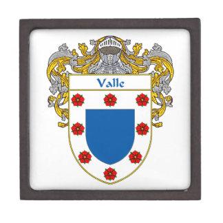 Valle Coat of Arms/Family Crest Keepsake Box