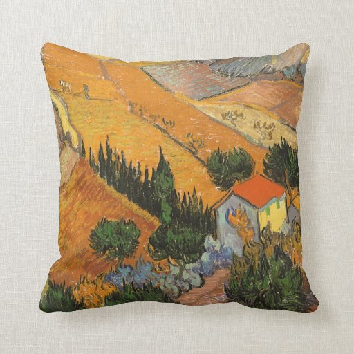 Valle con el labrador de Vincent van Gogh Cojin