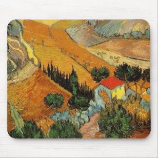 Valle con la bella arte de Van Gogh del labrador Alfombrillas De Ratones