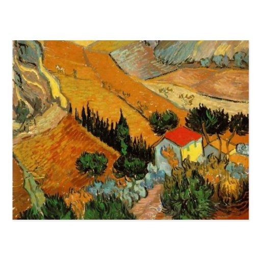 Valle con la bella arte de Van Gogh del labrador Postal
