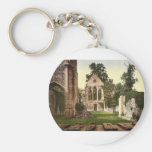 Valle Crucis Abbey, interior looking west, Llangol Key Chains