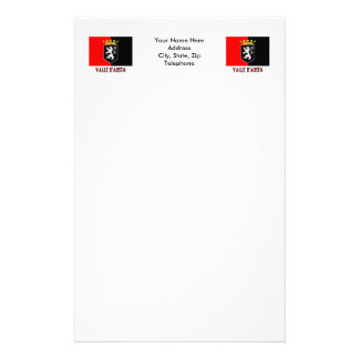 Valle d'Aosta flag with name Stationery Design