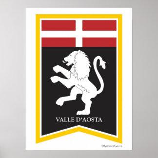 Valle D'Aosta  Italy Regional Crest Art Print