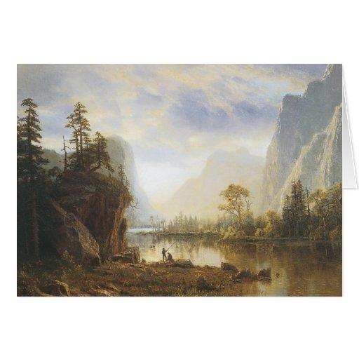 Valle de Albert Bierstadt Yosemite Tarjeta