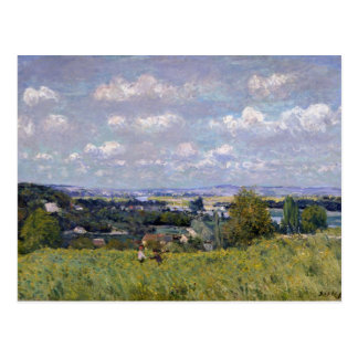 Valle de Alfred Sisley el | del Sena en la St-Nube Postales