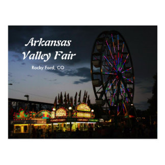 Valle de Arkansas justo en la postal de la noche