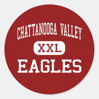 Valle de Chattanooga - Eagles - centro - Pegatinas Redondas