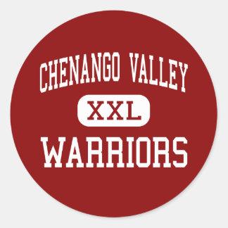 Valle de Chenango - guerreros - joven - Binghamton Pegatina Redonda