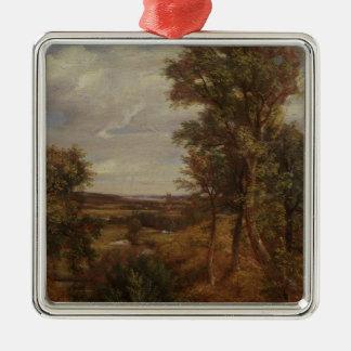 Valle de Dedham 1802 aceite en lona Ornamento De Navidad