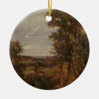 Valle de Dedham 1802 aceite en lona Ornamentos Para Reyes Magos