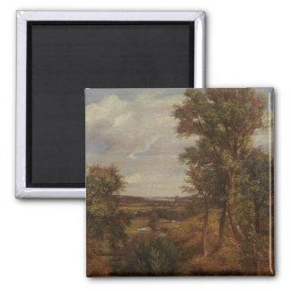 Valle de Dedham 1802 aceite en lona Imanes De Nevera
