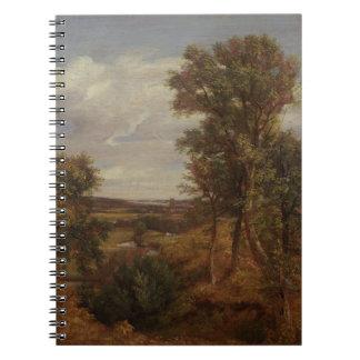 Valle de Dedham 1802 aceite en lona Cuadernos