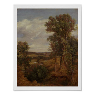 Valle de Dedham 1802 aceite en lona Poster