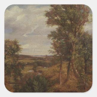Valle de Dedham 1802 aceite en lona Colcomanias Cuadradas
