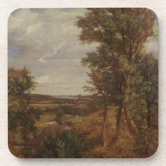 Valle de Dedham 1802 aceite en lona Posavasos De Bebidas