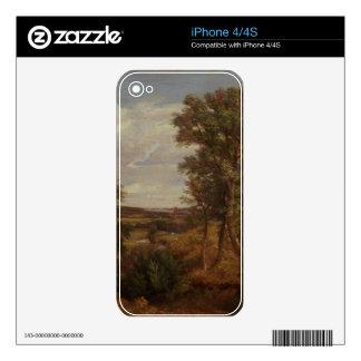 Valle de Dedham 1802 aceite en lona Skins Para eliPhone 4S