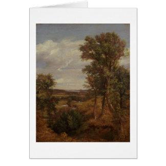 Valle de Dedham 1802 aceite en lona Tarjeta