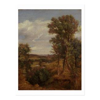 Valle de Dedham 1802 aceite en lona Postales