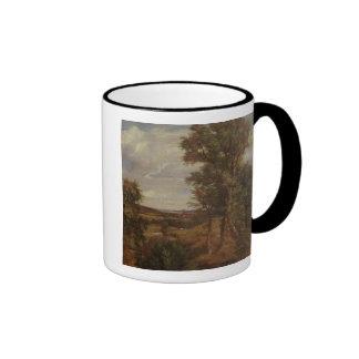 Valle de Dedham 1802 aceite en lona Taza De Café