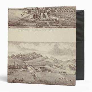 """Valle de Frazier, ranchos de la orilla del lago Carpeta 1 1/2"""""""