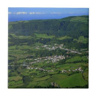 Valle de Furnas - Azores Azulejo Cuadrado Pequeño