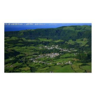 Valle de Furnas, Azores - calendario del bolsillo Tarjetas De Visita