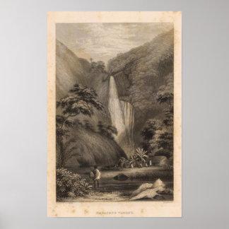 Valle de Hanapepe, Hawaii Poster