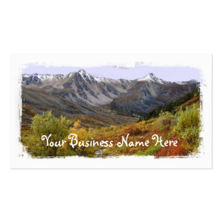 Valle de la caída plantilla de tarjeta personal