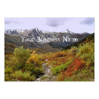 Valle de la caída plantilla de tarjeta de negocio