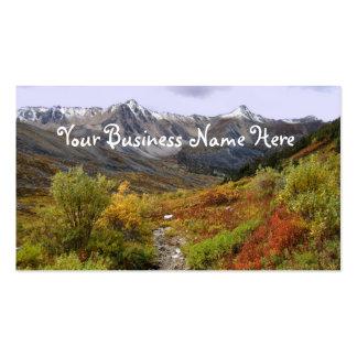 Valle de la caída tarjetas de negocios
