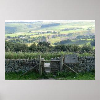 Valle de la esperanza en los valles de Derbyshire Póster