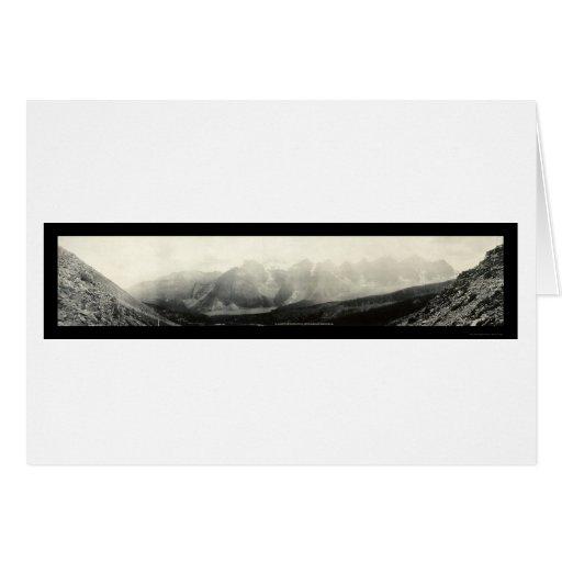 Valle de la foto 1907 de 10 picos felicitación