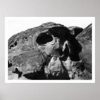 Valle de la impresión de la roca del cráneo del fu póster