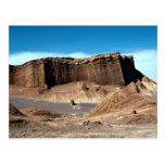Valle de la luna, desierto de Atacama, desierto de Postal
