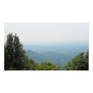 Valle de la montaña tarjetas de visita