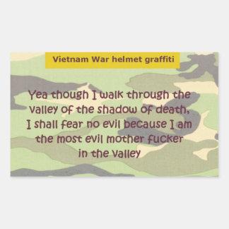 Valle de la muerte pegatina rectangular