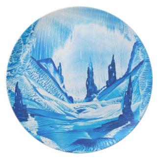 Valle de la placa de los castillos platos de comidas