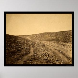 Valle de la sombra de la muerte 1855 póster