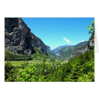 Valle de Lauterbrunnen en Suiza Tarjeta De Felicitación