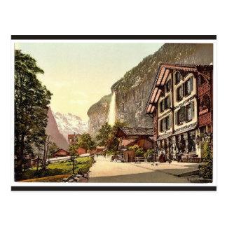 Valle de Lauterbrunnen, opinión de la calle con Postal