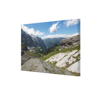Valle de Lauterbrunnen, Suiza - lona envuelta Impresiones En Lona