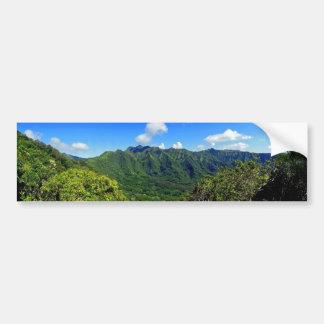 Valle de Manoa, Hawaii Etiqueta De Parachoque