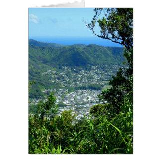 Valle de Manoa, Hawaii Felicitacion